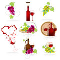 Design elements of the icon wines Stock Image
