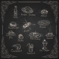 Design elements for the menu on the chalkboard vector illustration eps Stock Photos