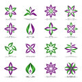 Design elements set. Abstract floral icons. Royalty Free Stock Photo