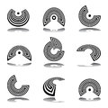 Design elements set. Abstract graphic icons. Stock Photos