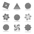 Design elements set. Abstract graphical icons. Royalty Free Stock Photo