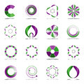 Design elements set. Abstract icons. Royalty Free Stock Photo