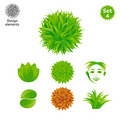 Design elements set - Green Stock Photos