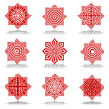 Design elements set. Octagonal patterns. Royalty Free Stock Photography