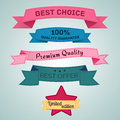 Design elements set in retro style vector eps collection Stock Photo