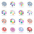 Design elements set with rotation. Stock Images