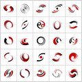 Design elements set. Rotation and spiral movement. Abstract icons Royalty Free Stock Photo