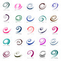 Design elements set. Spiral movement. Royalty Free Stock Photo