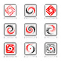 Design elements with spiral movement. Royalty Free Stock Photo