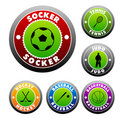 Design Elements (Sport Balls Icon Set) Royalty Free Stock Image