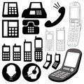 Design elements / telephone Stock Photos