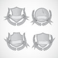 Design elements. Vector set of shields with Laurel Royalty Free Stock Photo
