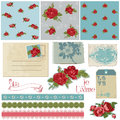Design Elements - Vintage Flowers Royalty Free Stock Photography