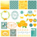 Design Elements - Vintage Ombre Butterflies Royalty Free Stock Photo