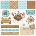 Design elements - Vintage Wedding Set Royalty Free Stock Image
