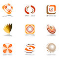 Design elements in warm colors. Stock Photography