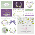 Design Elements - Wedding Flower Lily Theme Royalty Free Stock Photo