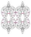 Design exotic Ornaments on white Aztecs