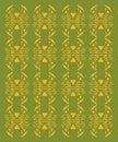Design exotic Ornaments on white. Green bio aztecs
