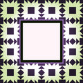 Design green pattern frame Stock Photography