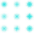 Design halftone circle cell element abstract water molecule vector logo template set you can use in the media mobile water biology Stock Photo