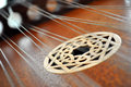 Design on a Hammered Dulcimer Royalty Free Stock Photo