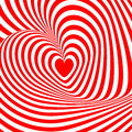 Design heart swirl rotation illusion background. A Stock Images