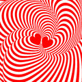 Design hearts twisting movement illusion backgroun Royalty Free Stock Images