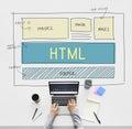 Design HTML Web Design Template Concept Royalty Free Stock Photo