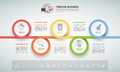 Design infographic template 5 options. Business concept