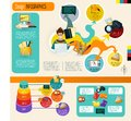 Design Infographics Set Royalty Free Stock Photo
