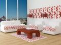 Design interior of elegance modern living room Royalty Free Stock Photo