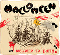 Design of invitation card to Halloween party Royalty Free Stock Photo