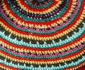Design of knitted fabric handmade Stock Photo
