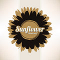 Design labels sunflower oil Stock Photos
