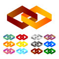 Design logo element infinite cross ribbon vector design icon template you can use in the mobile finance biology chemistry science Royalty Free Stock Image