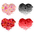 Design love heart vector element abstract logotype colorful icons set Stock Photos