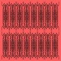 Luxury vint. DESIGN mandalas black on red. VINTAGE Luxury mandalas ethnic