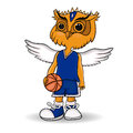 Design of the mascot of the basketball team. Royalty Free Stock Photo