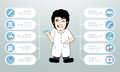 Design Medical infographics template with icon set, Royalty Free Stock Photo