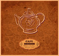 Design of menu with teapot Royalty Free Stock Image