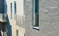 The design of modern apartment building with a facade Royalty Free Stock Photo