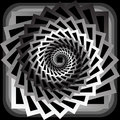 Design monochrome abstract spiral movement background vector art illustration Royalty Free Stock Photography