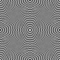 Design monochrome illusion background movement checkered abstract distortion backdrop vector art illustration Stock Photography