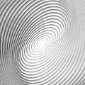 Design monochrome whirl circular background motion abstract striped distortion backdrop vector art illustration eps Royalty Free Stock Photo