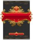 Diseño florido oro marco