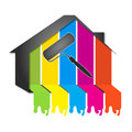 Design for painting houses building Stock Images