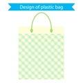 Design of plastic bag. vector