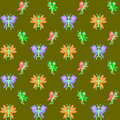 Design seamless butterflies pattern vector art Royalty Free Stock Photography