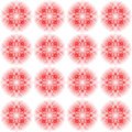 Design seamless colorful floral decorative pattern abstract circular geometric background vector art Royalty Free Stock Images
